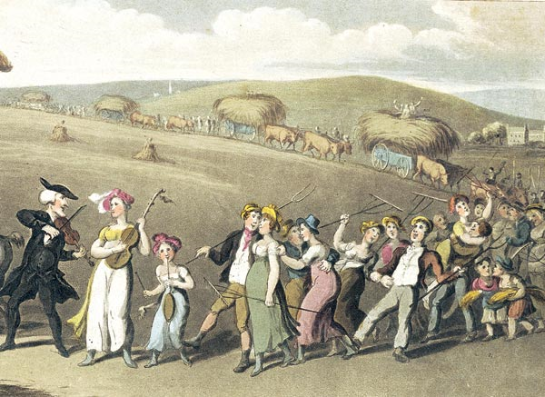 'The Harvest Home' by Thomas Rowlandson, 1820
